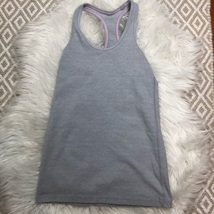 Ivivva Grey Racerback Tank Top Girls Lululemon 8